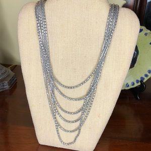 Chico's Silver multi level necklace adjustable
